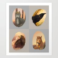 middle earth Art Prints featuring animals of Middle earth by megatruh