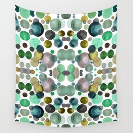Watercolor circles Wall Tapestry