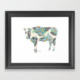 Skim Milk Cow (The skinnier version of my Chocolate Milk Cow Framed Art Print