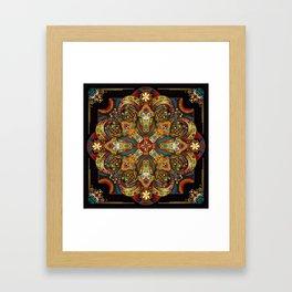 Mandala Sacred Rams - Dark Version Framed Art Print