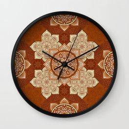 African Floral Mandela Wall Clock