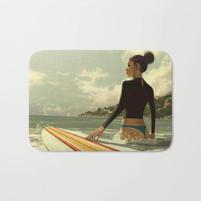 Surf girl Bath Mat