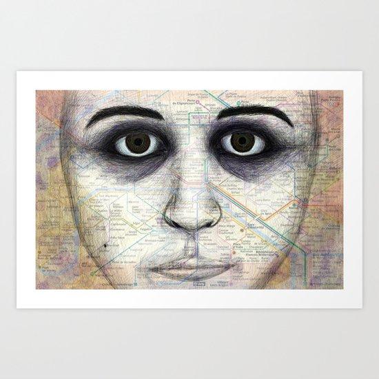 Map Portrait Art Print