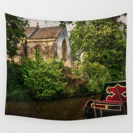 Church By The Oxford Canal Wall Tapestry