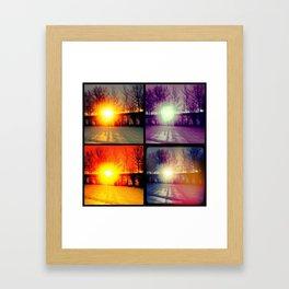 Four Sunsets Framed Art Print