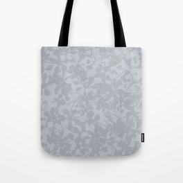 Broken but Flourishing Floral Pattern - Grey Tote Bag