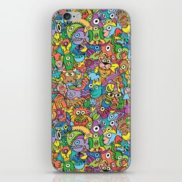A pinch of everything in a pattern full of carnival colors iPhone Skin