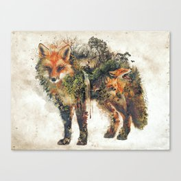 The Fox Nature Surrealism Canvas Print