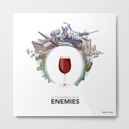 #4 In the Presence of My Enemies Metal Print