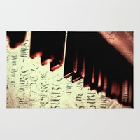 piano Area & Throw Rugs featuring piano by Falko Follert Art-FF77