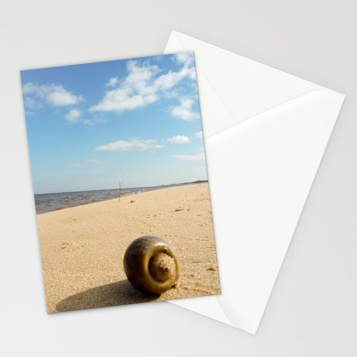 Alone at the beach Stationery Cards