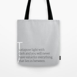 a letter to oneself : value Tote Bag