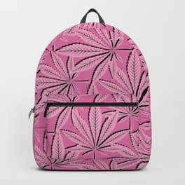Kannabis Pattern 23 -Pink,Black Backpack