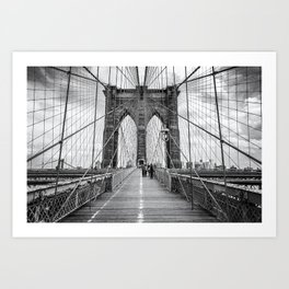 Brooklyn Bridge, New York City (rustic black & white) Kunstdrucke
