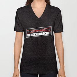 Human Rights Against Right Racism Antifa Unisex V-Neck