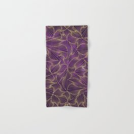 Tangles Violet and Gold Hand & Bath Towel