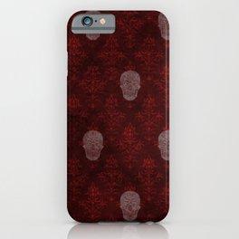 Victorian Skulls Red iPhone Case