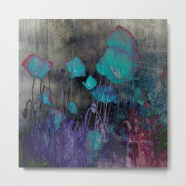 Poppies Abstract Metal Print