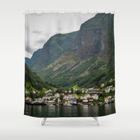 norway Shower Curtains featuring Norway by Michelle McConnell