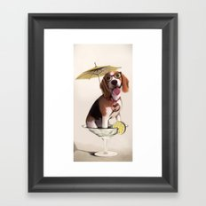 Tessi the party Beagle Framed Art Print