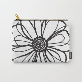 Anemone - Monotone Perennial Carry-All Pouch