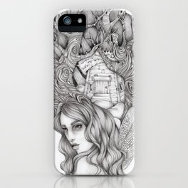 JennyMannoArt GRAPHITE DRAWING/FAIRIE iPhone Case