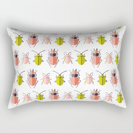 BEETLES ((chartreuse, coral, pink)) Rectangular Pillow