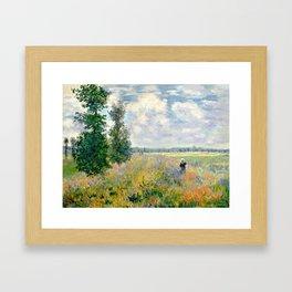 Poppy Fields near Argenteuil by Claude Monet Gerahmter Kunstdruck