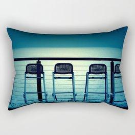 Blue Bar Stools Rectangular Pillow