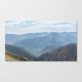 French mountain view Canvas Print