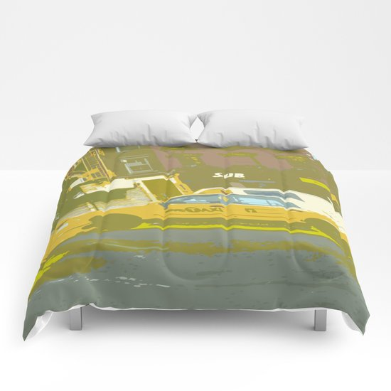 NY#8 Yellow Cab Comforters