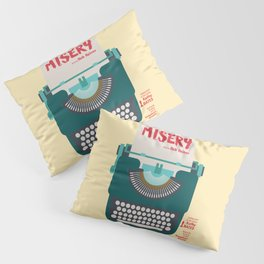 Misery, Horror, Movie Illustration, Stephen King, Kathy Bates, Rob Reiner, Classic book, cover Pillow Sham