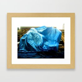 Billowing Blue Tarp 14 Framed Art Print
