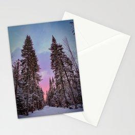 Adirondack Sunset through the trees. Adirondack Mountains. Stationery Cards