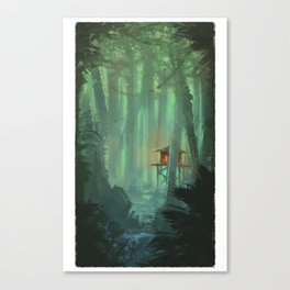 A Lonely Home Canvas Print