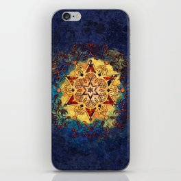 Star Shine in Gold and Blue iPhone Skin