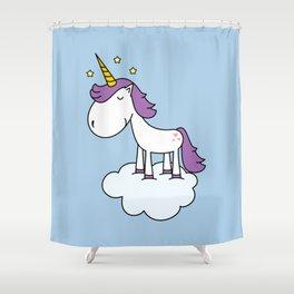 Adorable unicorn Shower Curtain