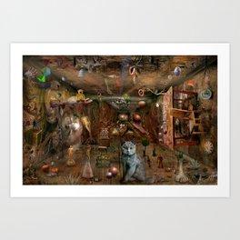Dream space Chaos Art Print