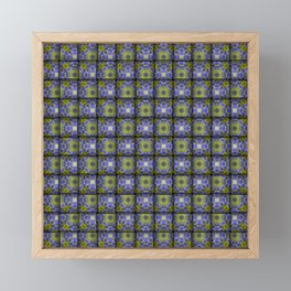 Woven Allium Flower Fabric Pattern Framed Mini Art Print