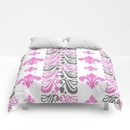 Fluer de Lis Custom Pink Comforters