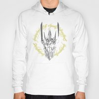middle earth Hoodies featuring The Dark Lord of middle Earth by ddjvigo