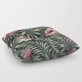 Tropical leave pattern 11.1 Floor Pillow