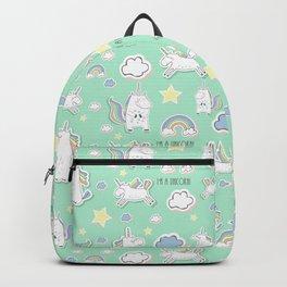 I'm a unicorn - green Backpack
