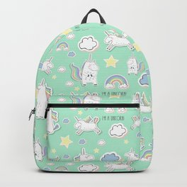 I'm a unicorn - green Backpack