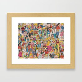 Betty and Veronica Collage Framed Art Print