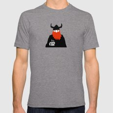 Viking and his morning coffee LARGE Tri-Grey Mens Fitted Tee