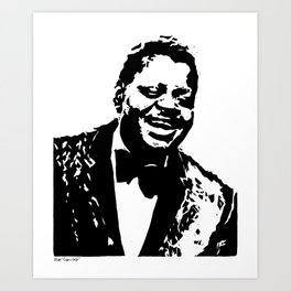 Oscar Peterson - Jazz - Woodcut Art Print