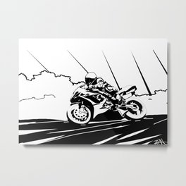 Motorcycle Race Metal Print