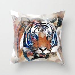 Tiger, the God of the Mountain Throw Pillow