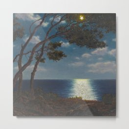 Classical Masterpiece 'Moonlight on the Water' by Ivan Fedorovich Choultsé Metal Print